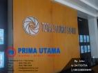 Pemasangan Back Drop Logo Perusahaan di PT. Pura TSS Kudus